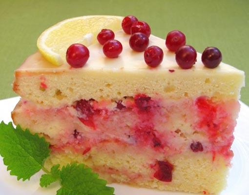 Торт «роман лимона с клюквой»